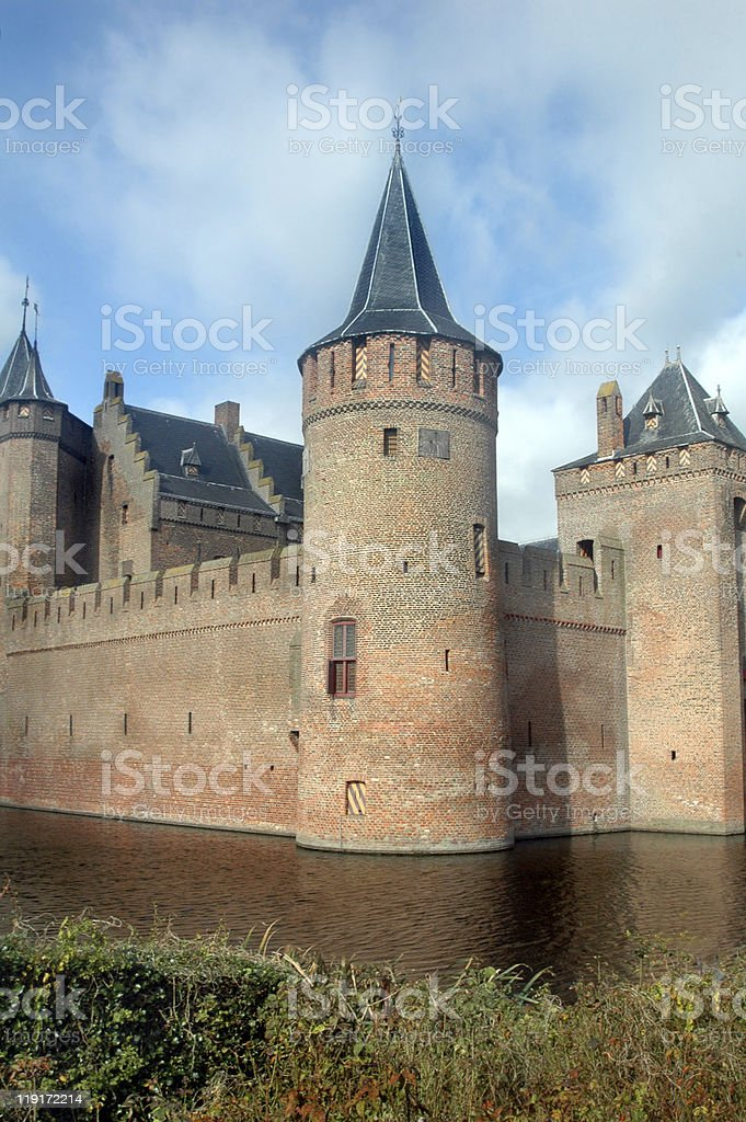 Dutch Castle, Muiderslot stock photo