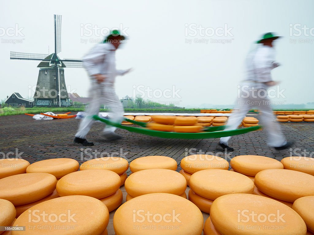 Dutch Cheese Market stock photo