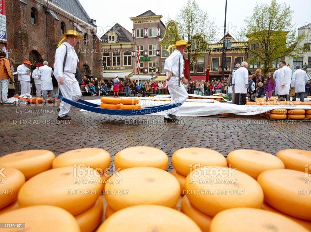 Dutch Cheese Market royalty-free stock photo