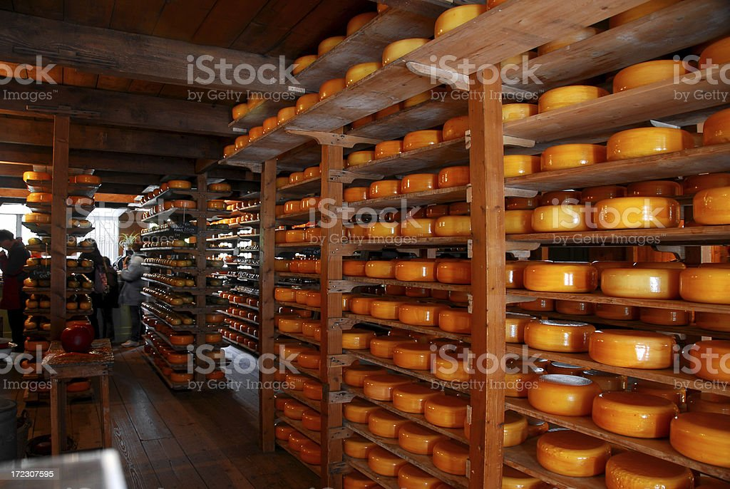 Dutch Cheese Shop royalty-free stock photo