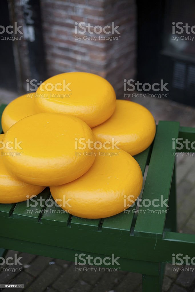 Dutch Cheese Wheels royalty-free stock photo