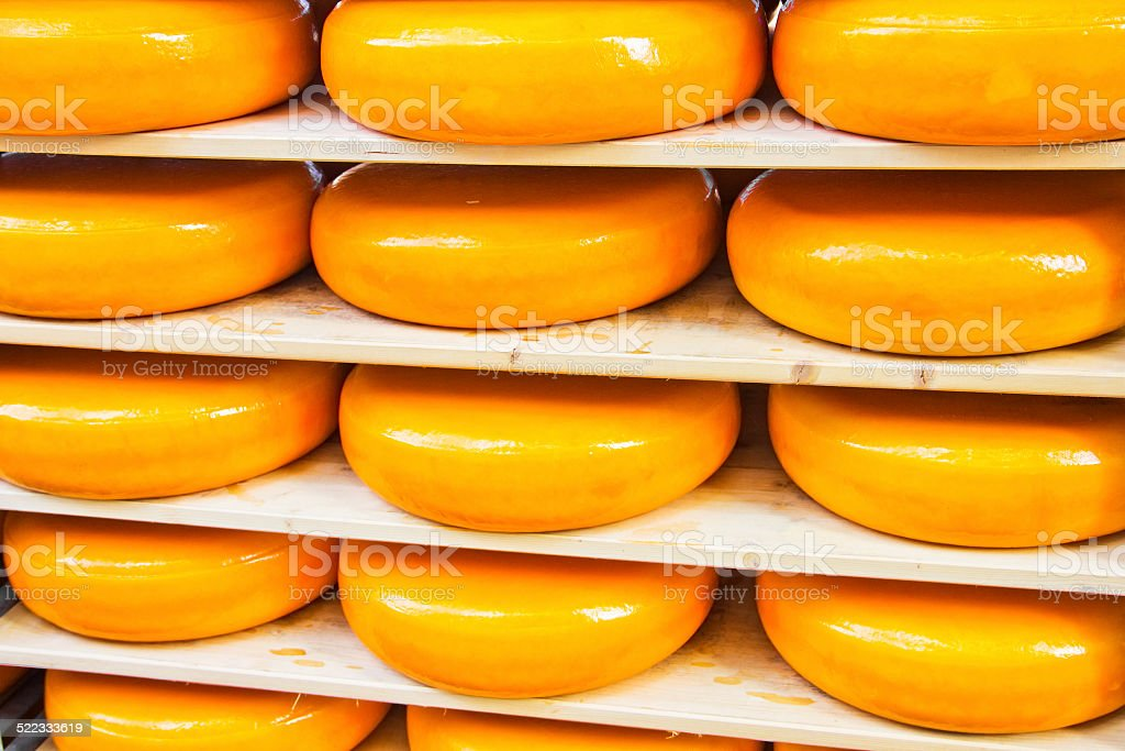 Dutch cheeses stock photo