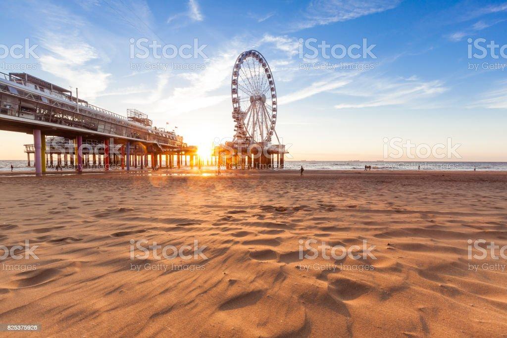 Dutch coast stock photo