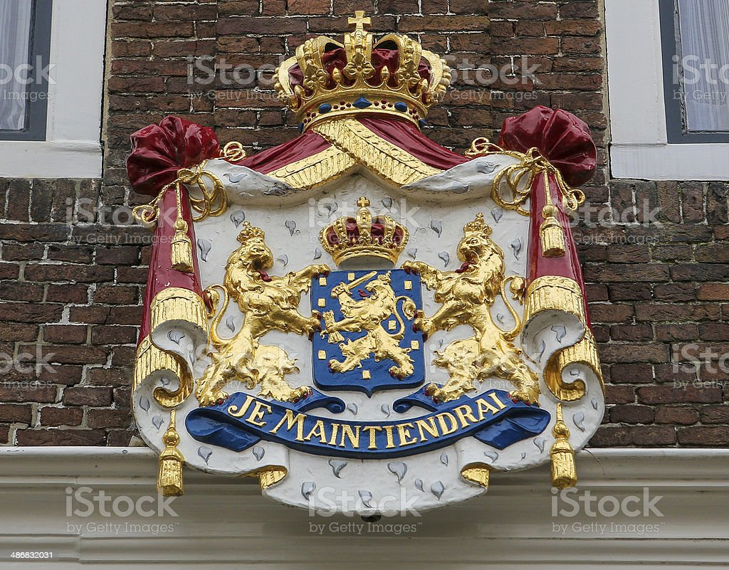 Dutch coat of arms stock photo