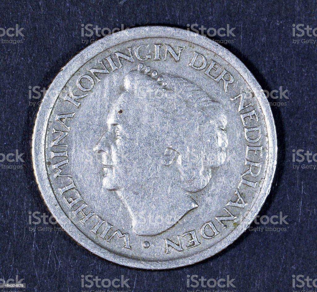 Dutch coin. royalty-free stock photo