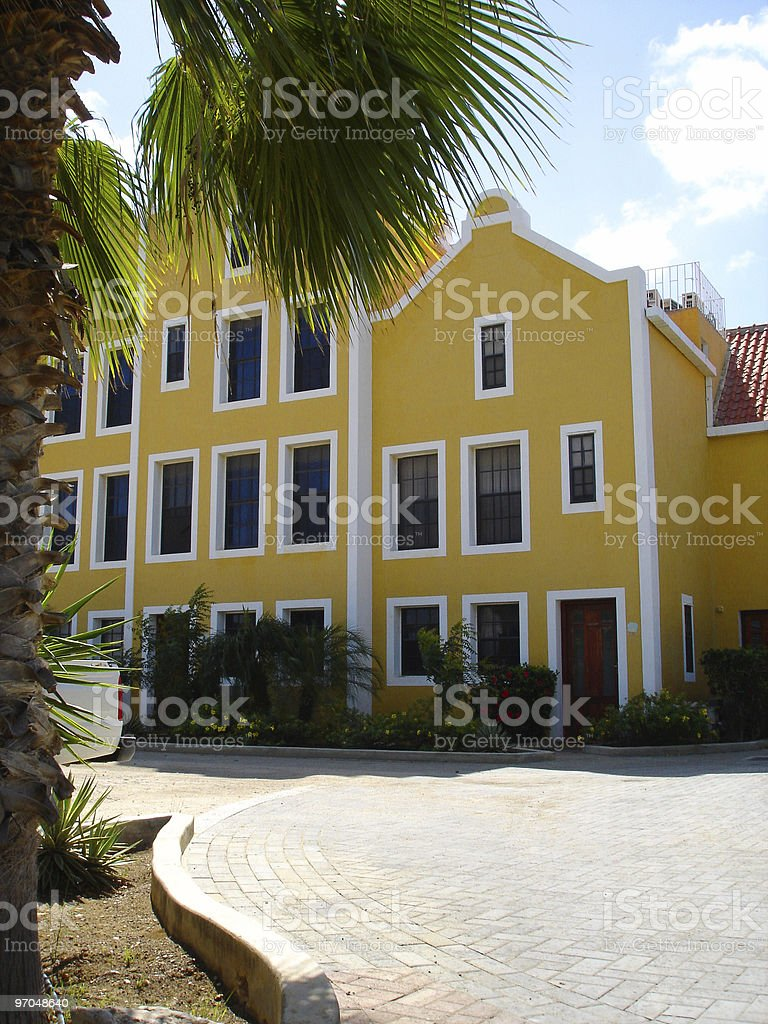 Dutch colorful houses on Bonaire​​​ foto