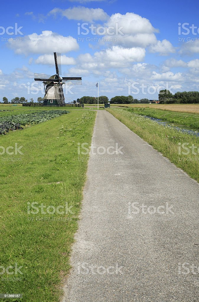Dutch Country Road royalty-free stock photo