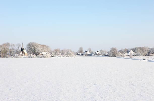 Dutch Country Village In Winter