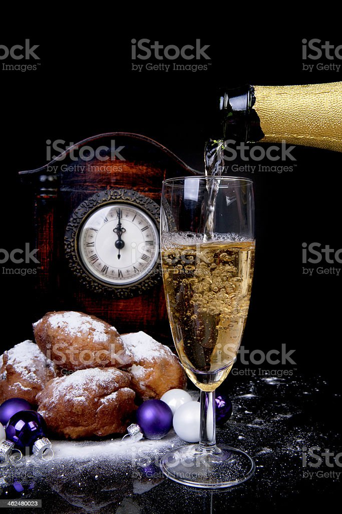 Dutch donut also known as oliebollen stock photo