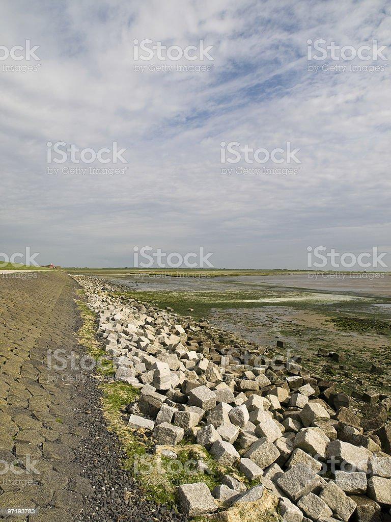 Dutch dyke royalty-free stock photo