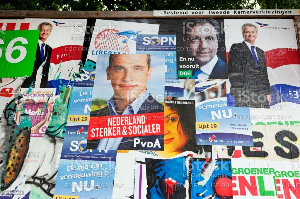 Dutch election posters # 5 XXXL stock photo