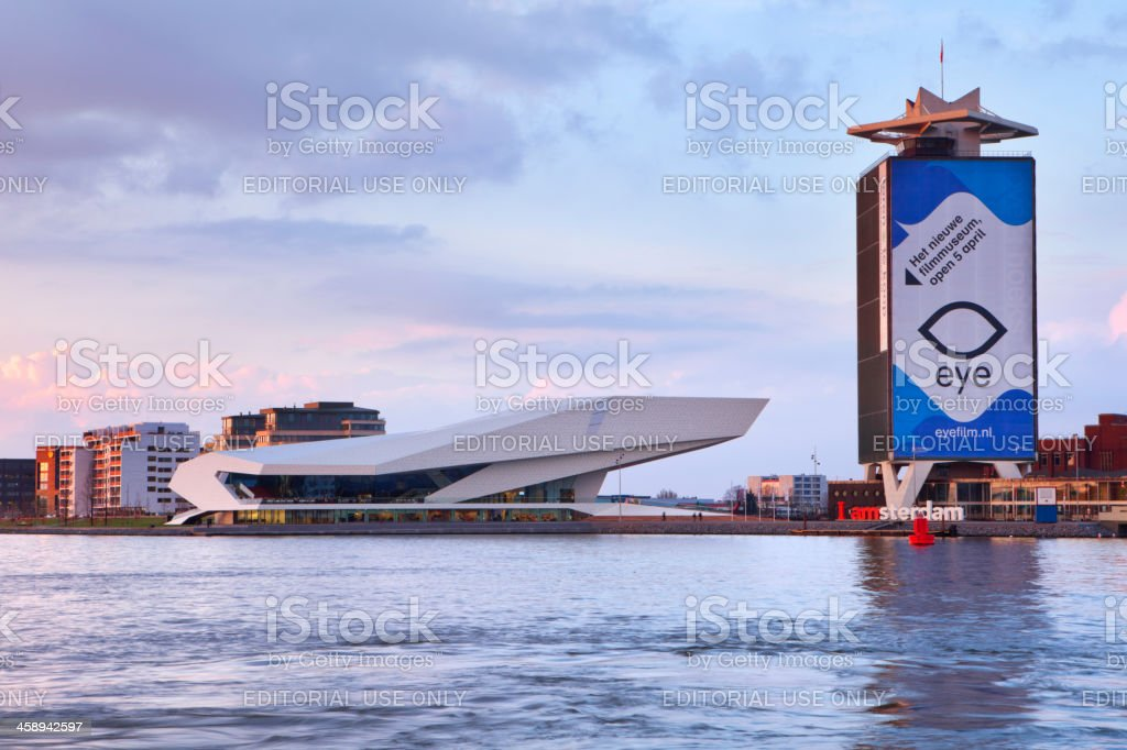 Dutch Film Institute EYE across the water, Amsterdam, The Netherlands stock photo