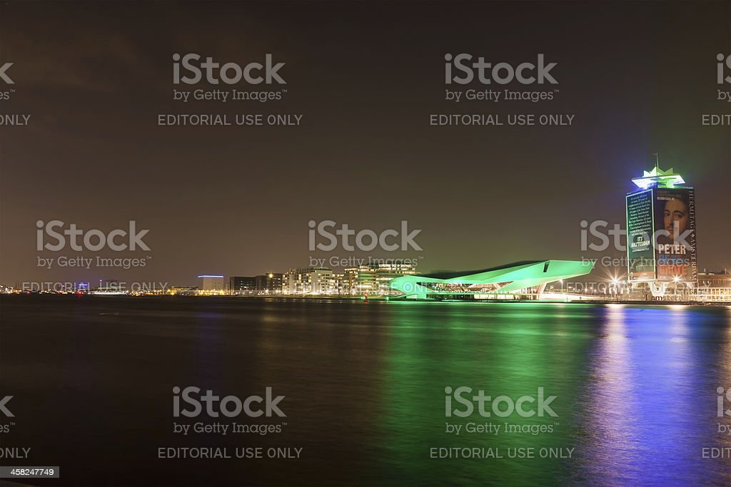 Dutch Film Institute EYE goes green on Saint Patrick's Day royalty-free stock photo
