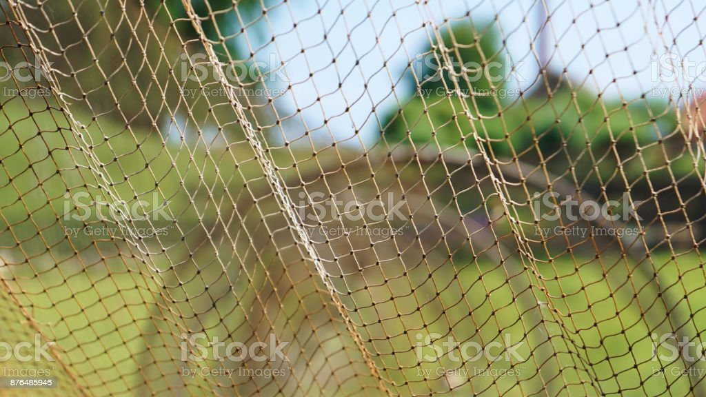 Dutch fishing nets 1 stock photo