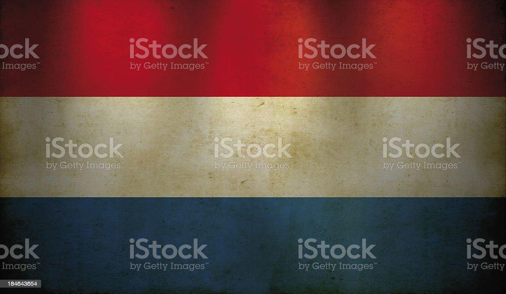 Dutch Flag Grunge Wallpaper stock photo