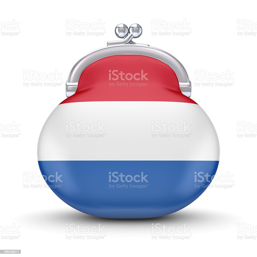 Dutch flag on a wallet. royalty-free stock photo
