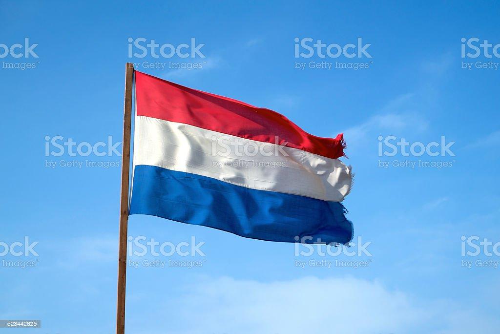 Bandera holandesa Rizado - foto de stock