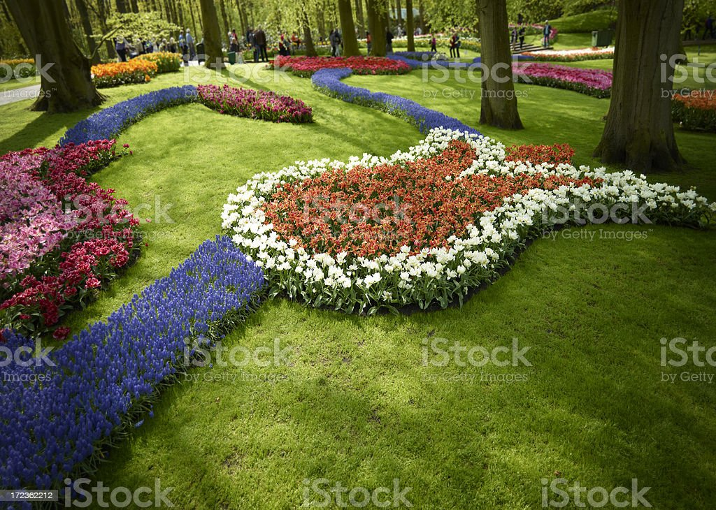 Dutch gardens in spring royalty-free stock photo