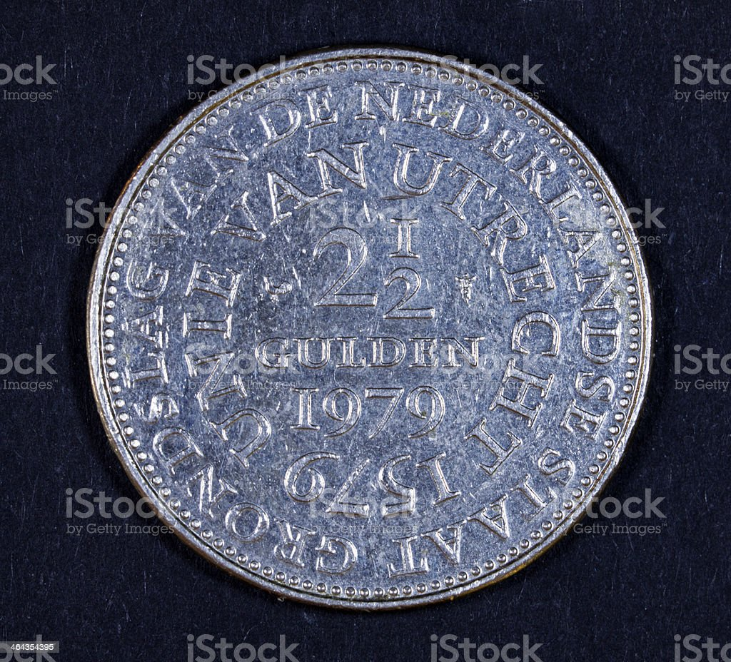 Dutch guilden coin. royalty-free stock photo