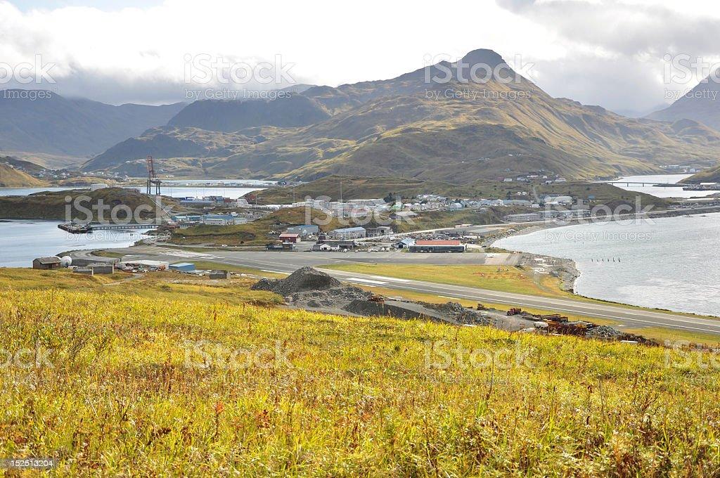 Dutch Harbor, Alaska stock photo