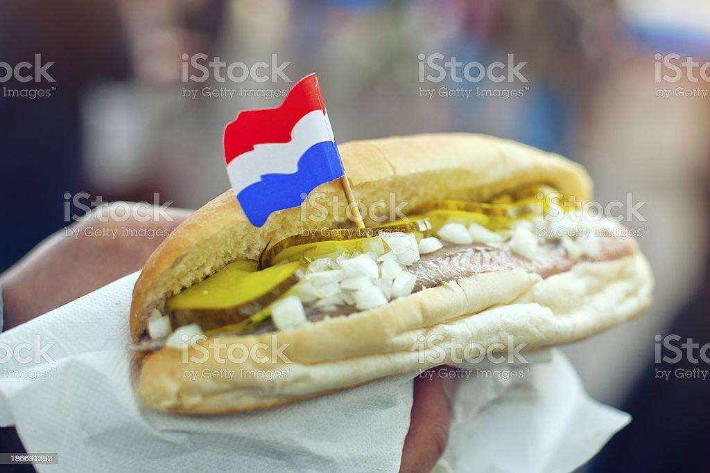 Dutch herring stock photo