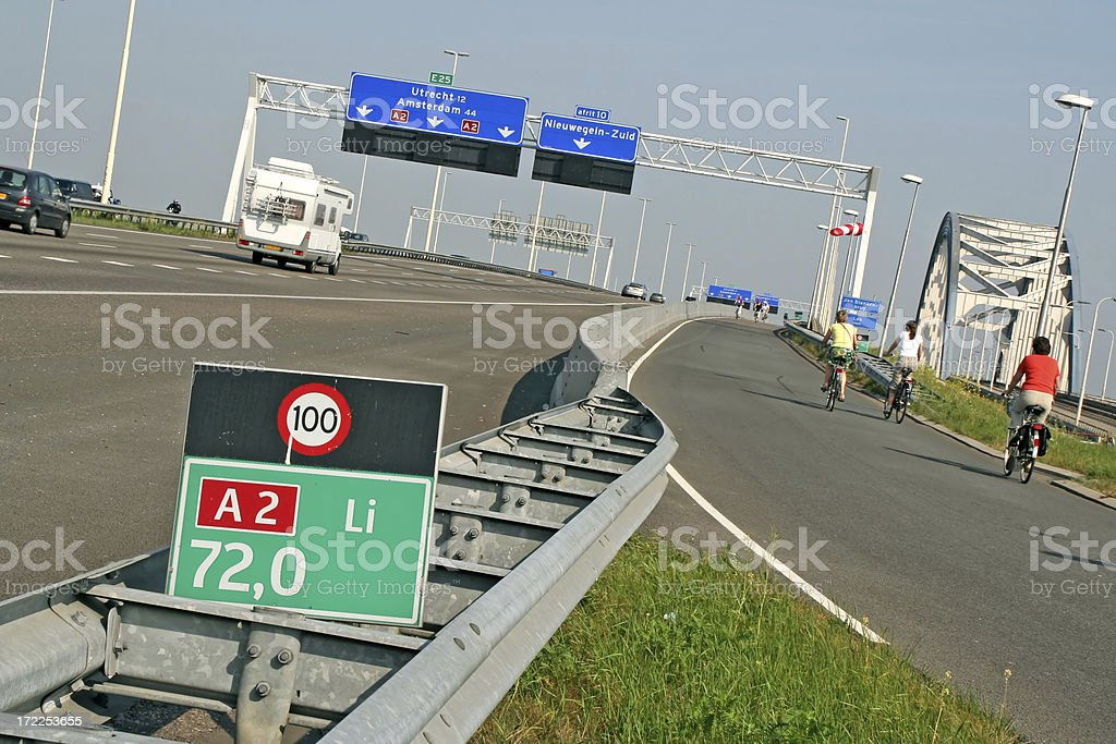 Dutch highway royalty-free stock photo