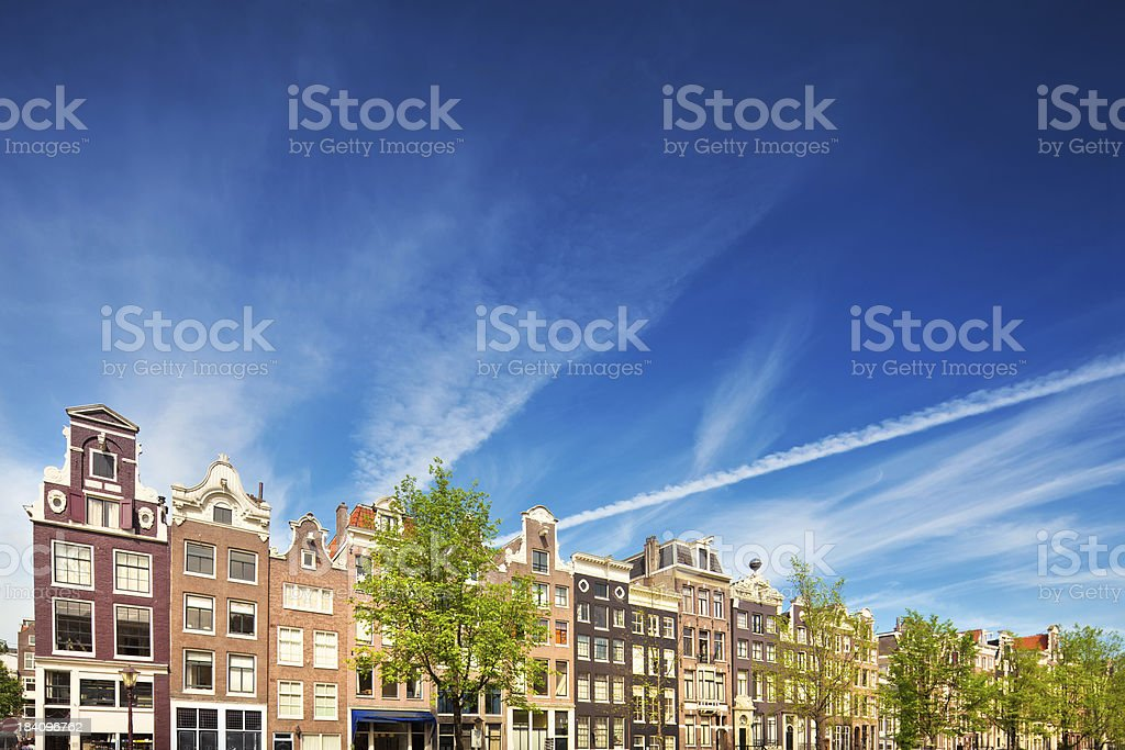 Dutch Houses in Amsterdam stock photo