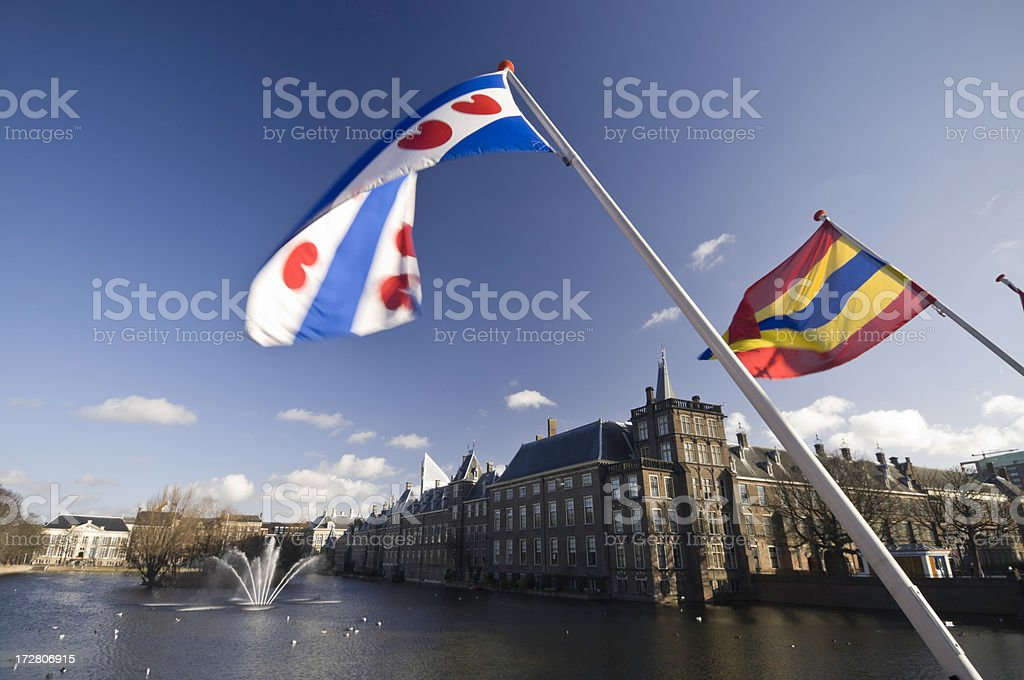 Dutch Houses of Parliament royalty-free stock photo