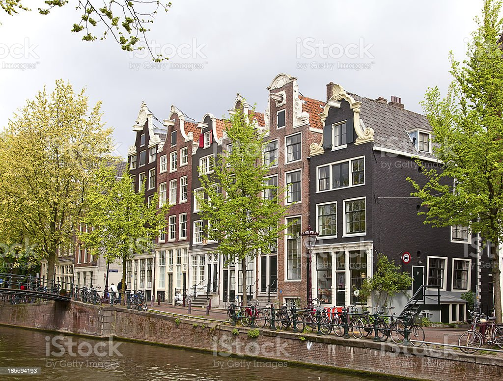 Dutch houses royalty-free stock photo