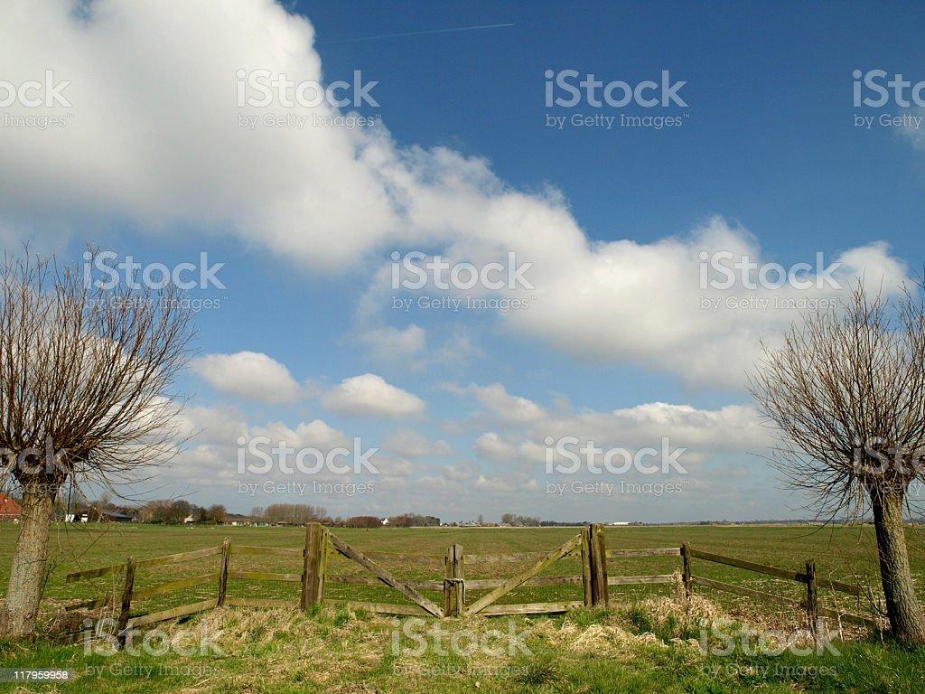 Dutch Landscape royalty-free stock photo