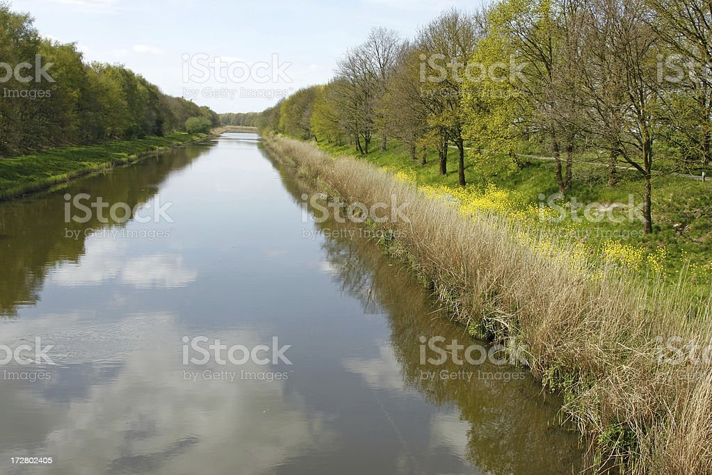 Dutch landscape with canal royalty-free stock photo