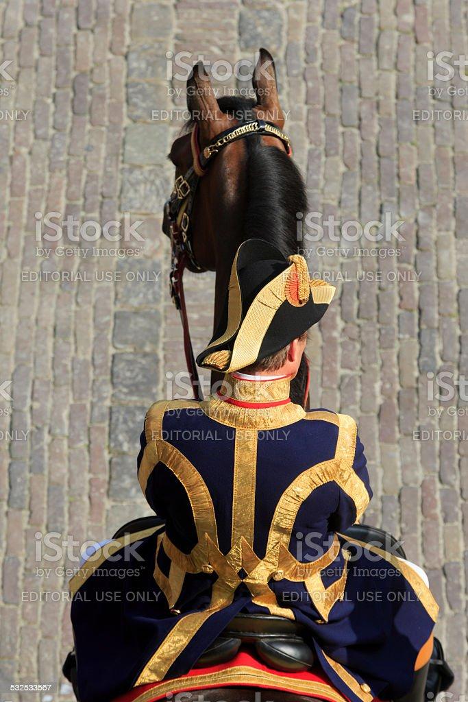 Dutch Lord Chamberlain on Binnenhof during Prinsjesdag in The Hague stock photo