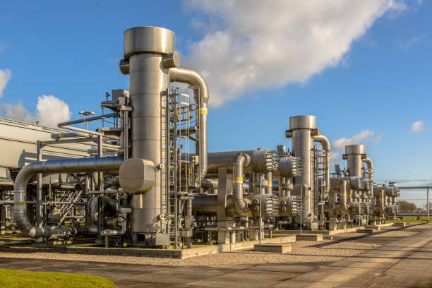 Dutch Natural gas processing site stock photo