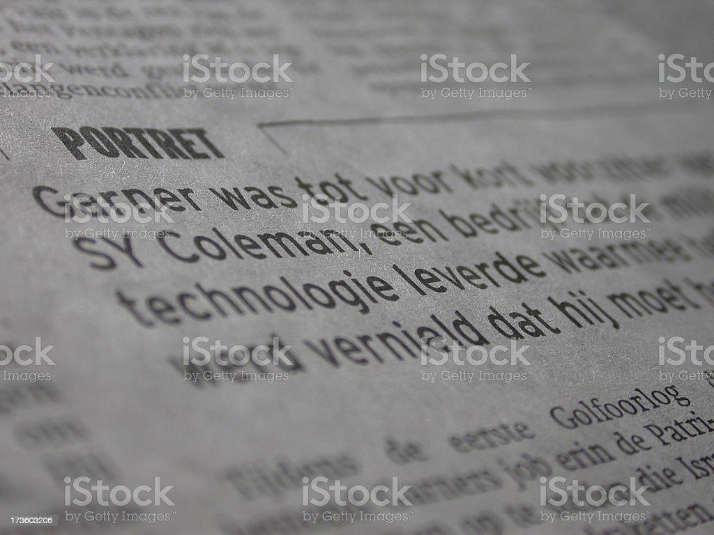 dutch newspaper 2 stock photo