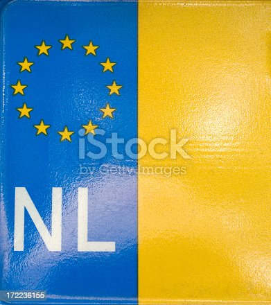 istock Dutch Number Plate (detail) 172236155