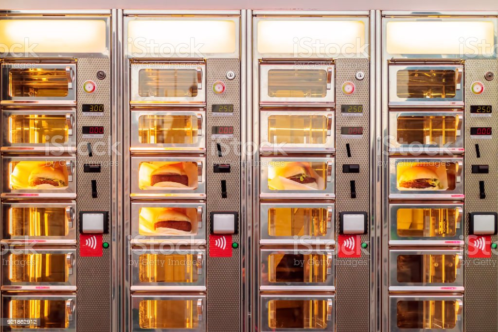 Dutch ordering window with croquette sandwiches stock photo