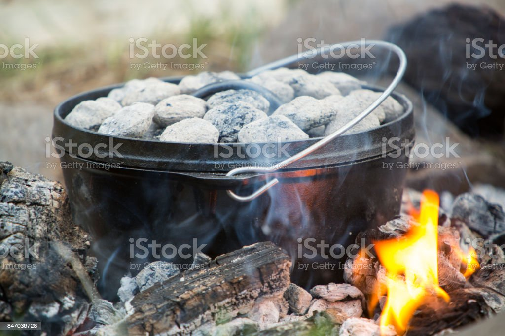 Dutch Oven Close Up stock photo