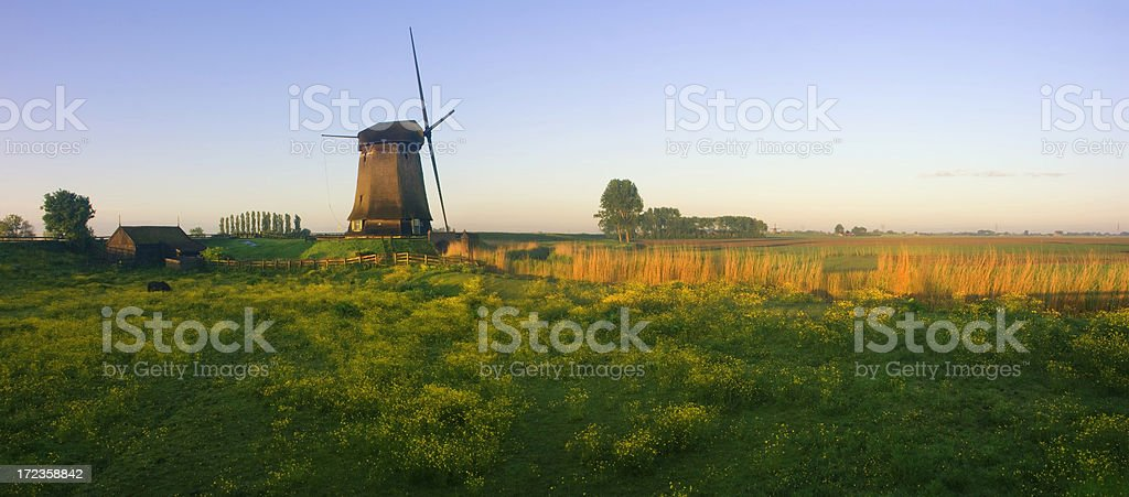Dutch Panorama royalty-free stock photo