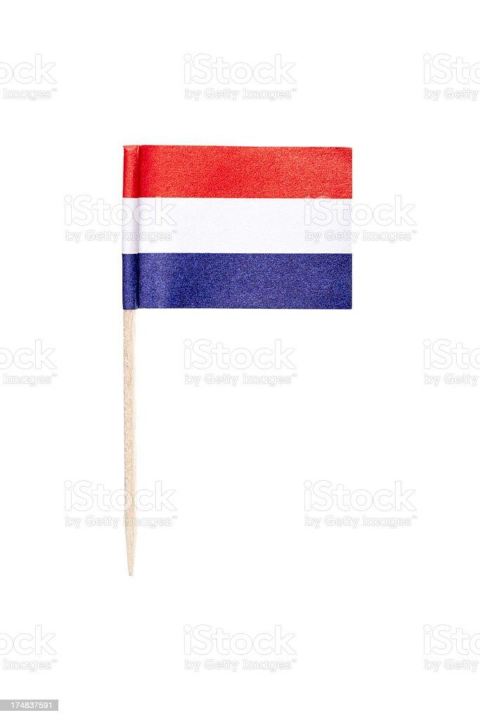 Bandera holandesa de papel - foto de stock