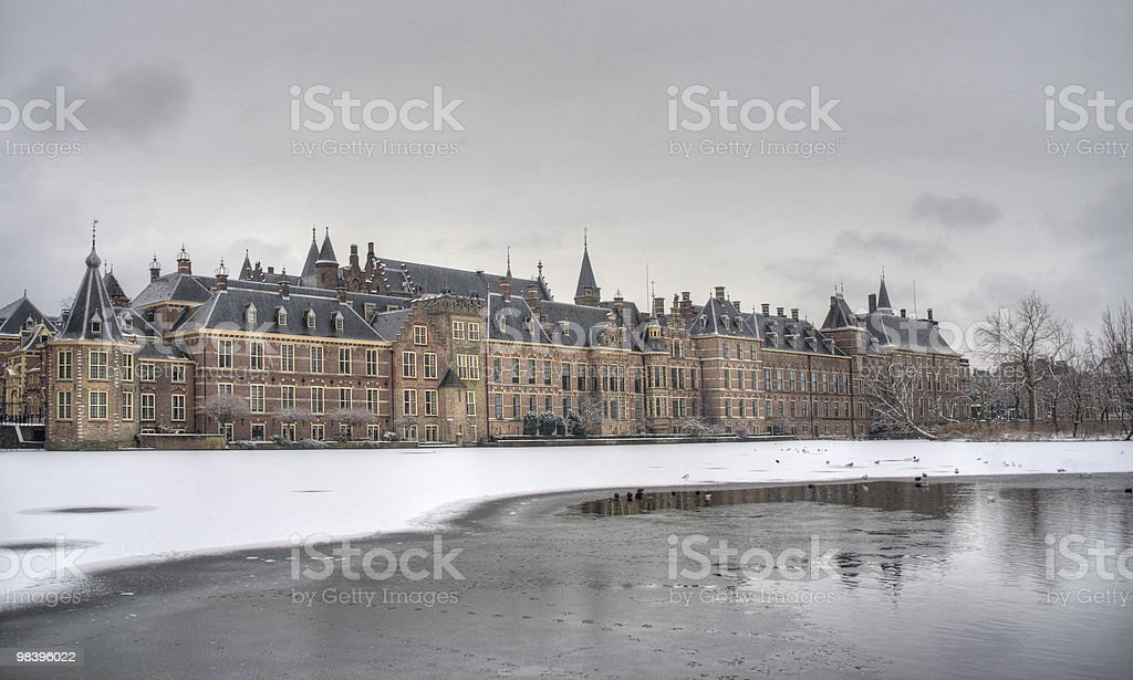 Dutch Parliament in Winter royalty-free stock photo
