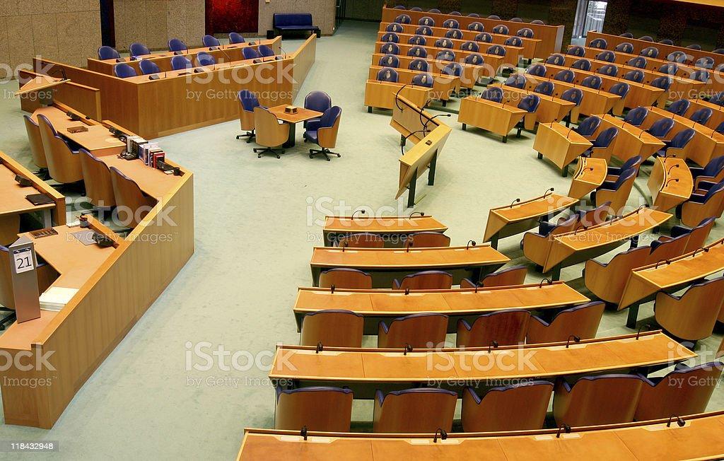 Dutch Parliament Interior stock photo