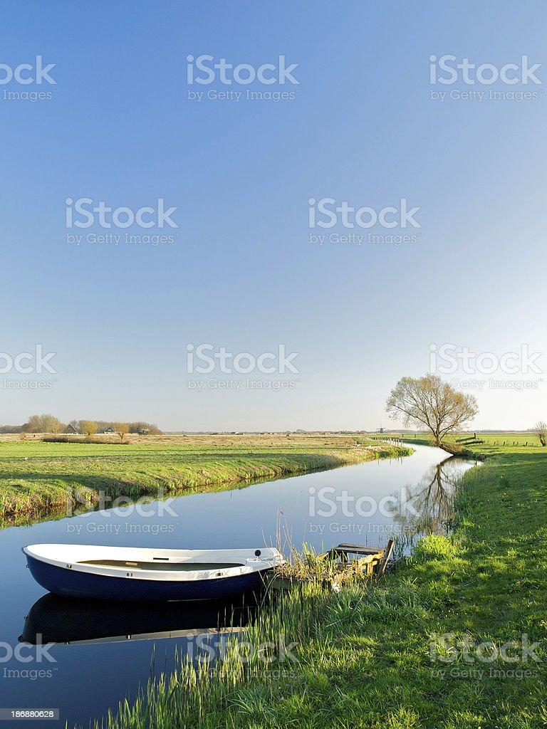 Dutch polder landscape in spring royalty-free stock photo