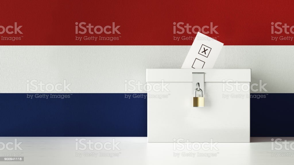 Dutch Presidential and Legislative Elections Concept stock photo