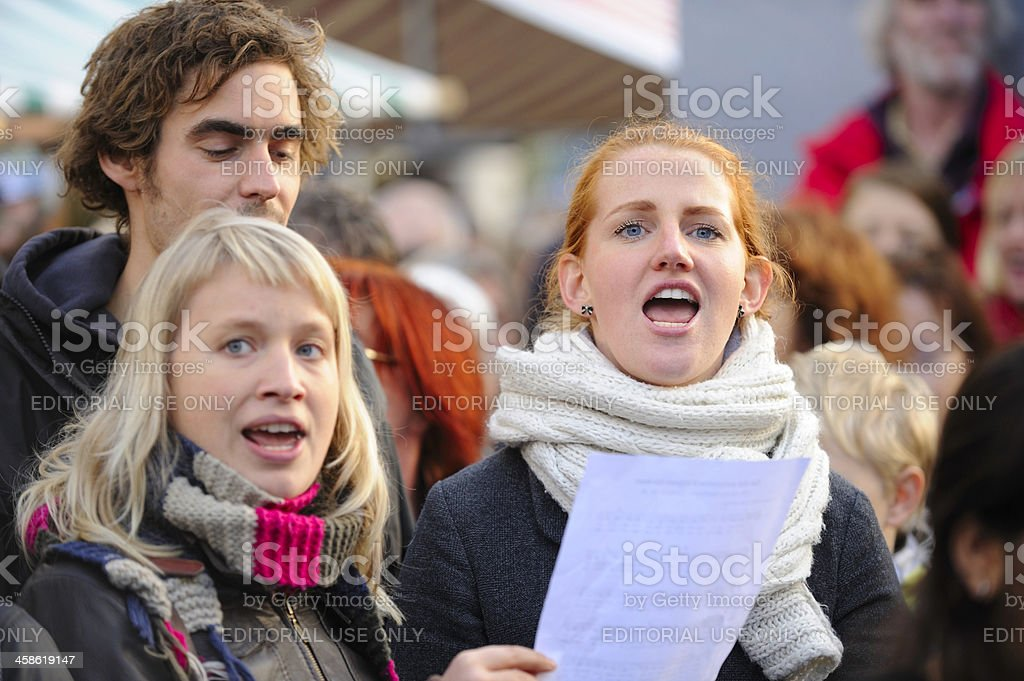 Dutch protest against government cutbacks on culture and art stock photo