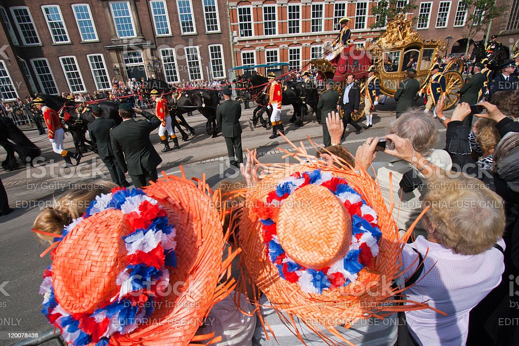 Dutch Queen parade - The Netherlands stock photo