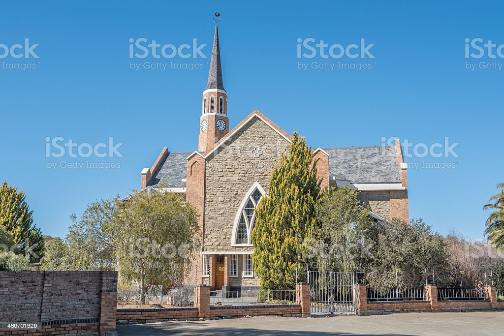 Dutch Reformed Church in Carnavon stock photo