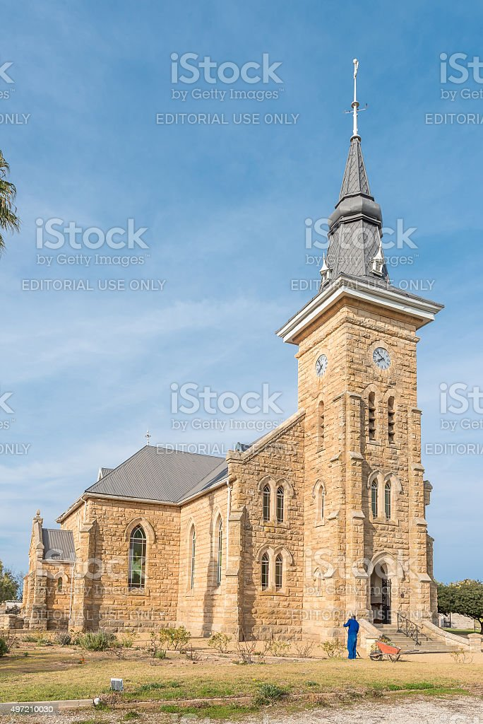 Dutch Reformed Church in Nieuwoudtville stock photo