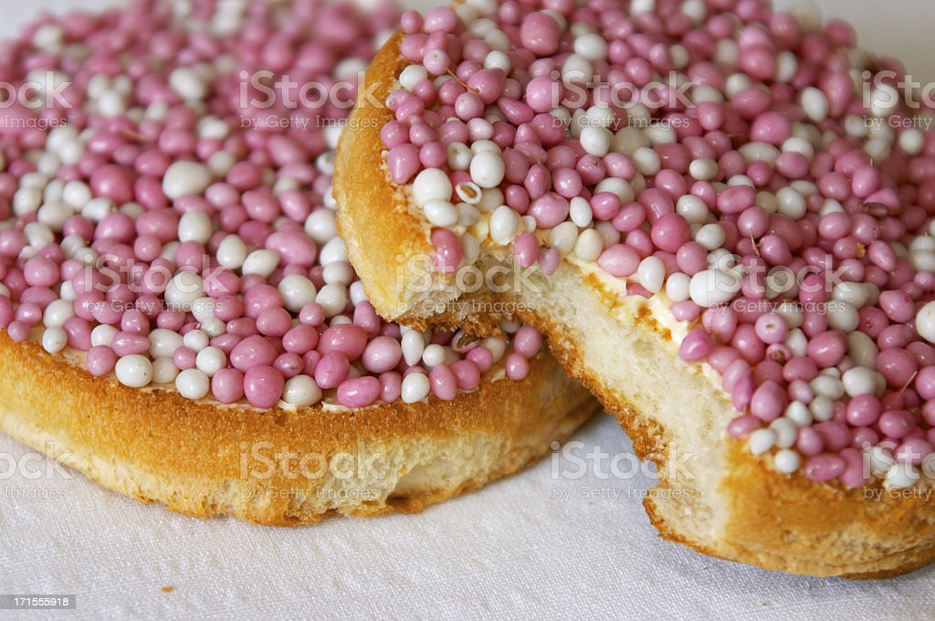Dutch rusks with little mice I royalty-free stock photo