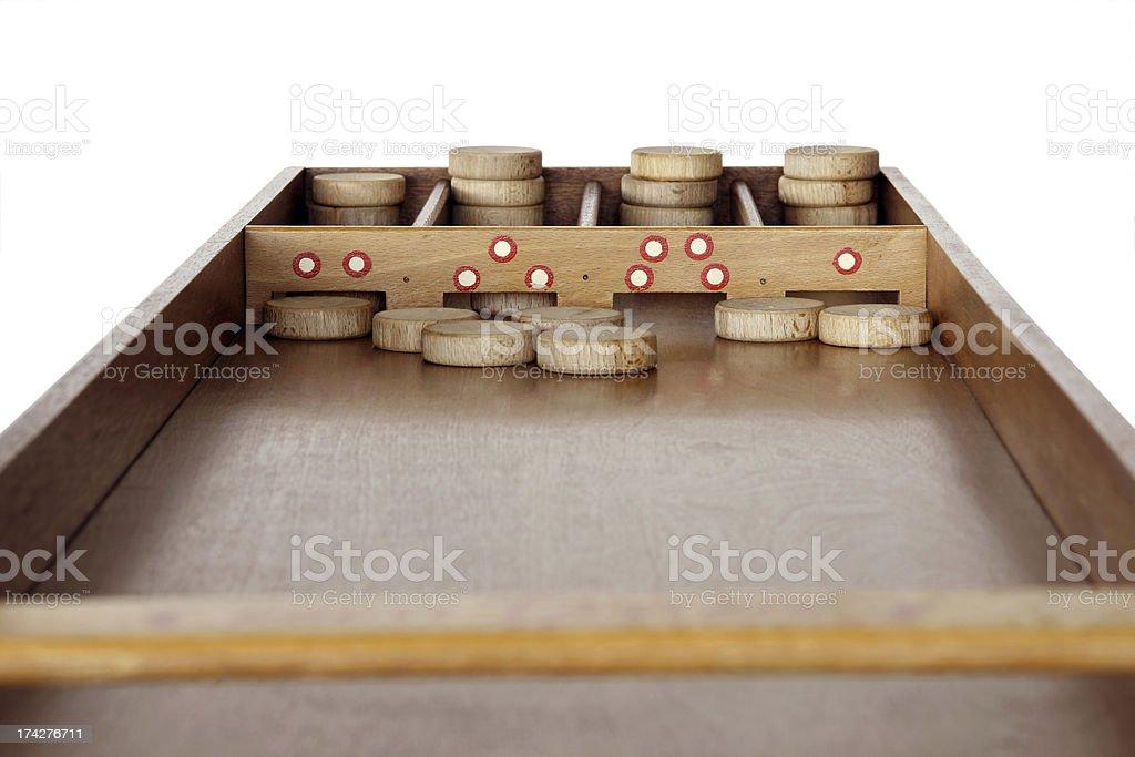 Dutch shuffleboard on white royalty-free stock photo