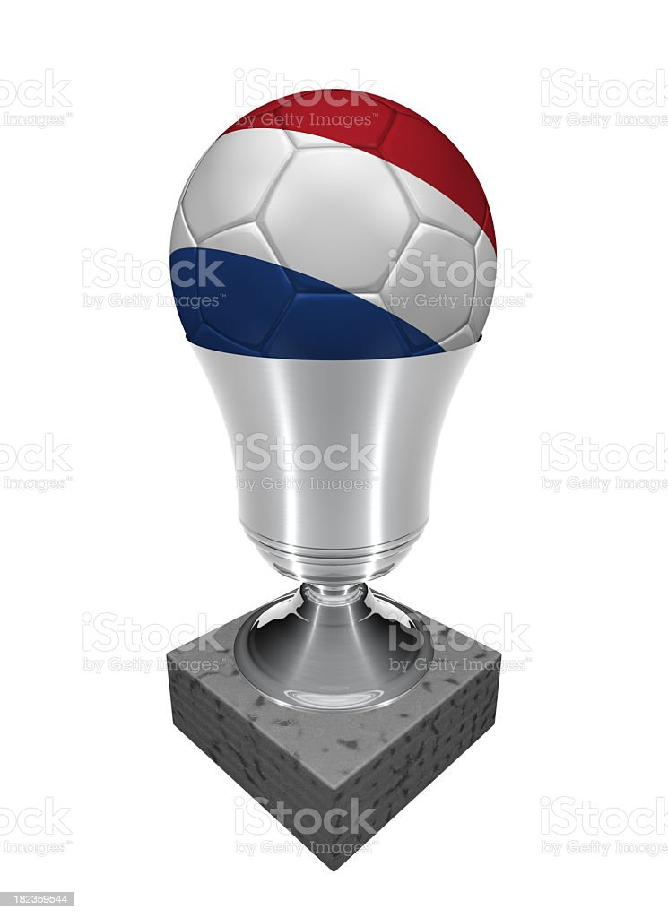 dutch soccer ball in a trophy royalty-free stock photo